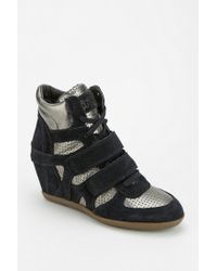 642c1d1d3b08 Urban Outfitters. Women s Gray Ash Bea Metallic Hidden Wedge Hightop Sneaker