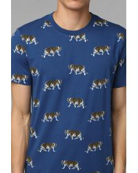 Urban Outfitters | Blue Character Hero Indigo Tiger Tee for Men | Lyst