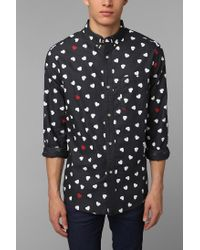 Urban Outfitters | Blue Hawkings Mcgill Hearts Oxford Button down Shirt for Men | Lyst
