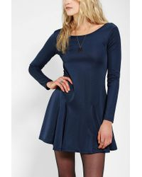 Urban Outfitters - Blue Lucca Couture Slinky Knit Openback Skater Dress - Lyst
