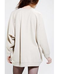 Urban Outfitters   Natural Oversized Dolman Pullover Sweatshirt   Lyst