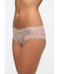 Urban Outfitters - Natural Uo Lace Cheeky Bikini - Lyst