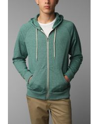 BDG | Green Gym Raglan Zip Hooded Sweatshirt for Men | Lyst
