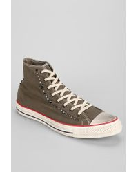 d5adf3878e0200 Urban Outfitters. Women s Gray Converse Chuck Taylor All Star Studded Hightop  Mens Sneaker