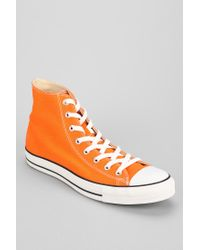 77f14bb64035d4 Urban Outfitters. Orange Converse Chuck Taylor All Star Hightop Mens Sneaker