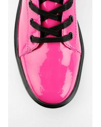 Urban Outfitters - Pink Dr Martens Patent Platform Sneaker-boot - Lyst