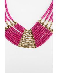 Urban Outfitters - Pink Fiji Beaded Bib Necklace - Lyst