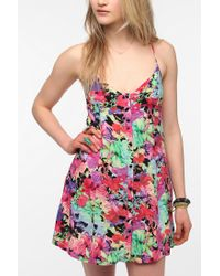 Urban Outfitters - Red Insight X Uo Midnight Floral Dress - Lyst
