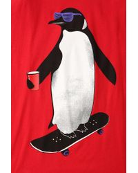 Urban Outfitters | Red Riot Society Penguin Skateboarding Tee for Men | Lyst