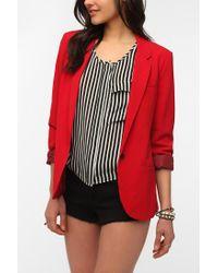 Urban Outfitters - Red Ex Boyfriend Blazer - Lyst
