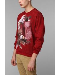 Urban Outfitters - Red The Mountain Bald Eagle Pullover Sweatshirt for Men - Lyst