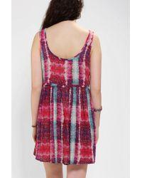 Urban Outfitters - Pink Ecote Maya Babydoll Dress - Lyst
