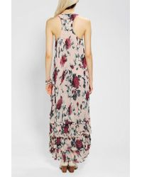 Urban Outfitters | Multicolor Floral Chiffon Maxi Dress | Lyst