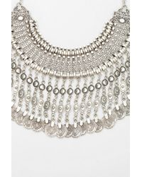 Silk Road | Metallic Falling Coin Necklace | Lyst