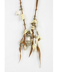 Urban Outfitters - Brown Spell The Gypsy Collective Hanalei Skull Necklace - Lyst