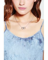 Urban Outfitters - Metallic The Ziggy Circle Necklace - Lyst