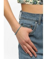 Urban Outfitters - Blue Jade Glass Seed Bead Bracelet - Lyst