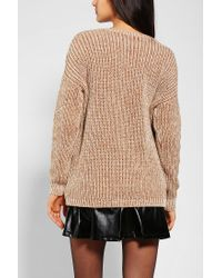 Urban Outfitters - Natural Coincidence Chance Shaker-stitch Pocket Sweater - Lyst