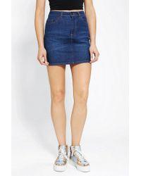 Urban Outfitters | Blue Bdg Denim Mini Skirt | Lyst