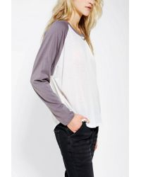 Urban Outfitters - White Project Social T Dolman Baseball Tee - Lyst
