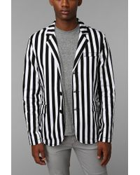 Urban Outfitters - White Tripp Nyc Stripe Top Cat Jacket for Men - Lyst