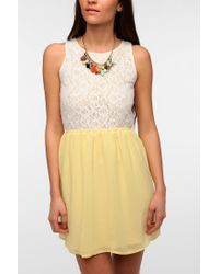 Urban Outfitters | Yellow One Only X Urban Renewal Lace Openback Dress | Lyst