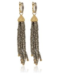 Annoushka - Metallic Gold Diamond Eclipse Porcupine Hoop Earrings - Lyst