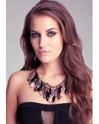 Bebe - Multicolor Ombre Lucite Spike Necklace - Lyst