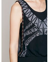 Free People | Black Aztec Print Dress | Lyst