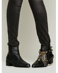 Free People - Black Wrapped Charm Boot Jewelry - Lyst