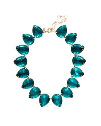 J.Crew | Blue Pear Necklace | Lyst