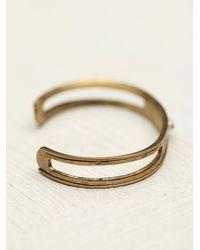 Serefina | Black Vintage Deco Hammered Cuff | Lyst