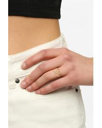 Urban Outfitters | Metallic Bella Script Ring | Lyst