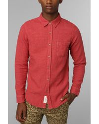 Urban Outfitters - Red Native Youth Cross Stitch Knit Button Down Shirt for Men - Lyst