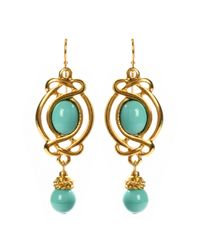 Ben-Amun | Green Vintage Inspired Turquoise Earrings | Lyst