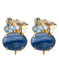 Bounkit | Metallic Kyanite Cluster Earrings | Lyst