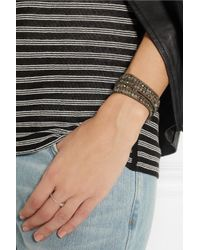 Chan Luu - Green Labradorite Pyrite and Swarovski Crystal Five Wrap Bracelet - Lyst