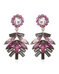 DANNIJO | Purple Valerie Earrings | Lyst