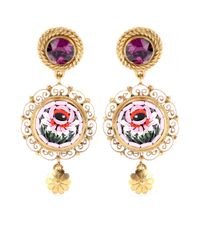 Dolce & Gabbana | Metallic Goldplated Clipon Earrings | Lyst