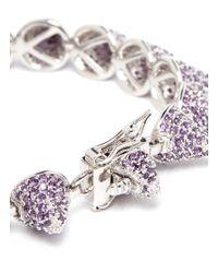 Eddie Borgo - Purple Small Crystal Pavé Cone Bracelet - Lyst