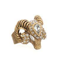 Elizabeth Cole   Metallic Rams Head Ring   Lyst