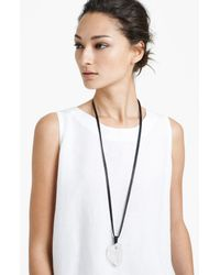 Eskandar | Black Long Stone Pendant Necklace | Lyst