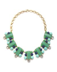 Gerard Yosca | Green Blue Rectangle Bar Necklace | Lyst