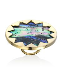 House of Harlow 1960 | Metallic Abalone and Gold Sunburst Cocktail Ring | Lyst