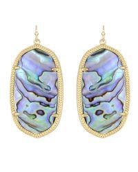 Kendra Scott | Metallic Danielle Earrings Abalone | Lyst