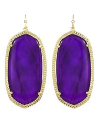 Kendra Scott | Danielle Earrings Purple Jade | Lyst