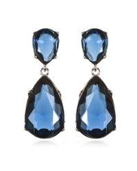 Kenneth Jay Lane | Blue Sapphire Drop Earrings | Lyst