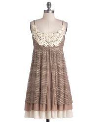 ModCloth | Brown Coffee Cake Break Dress | Lyst