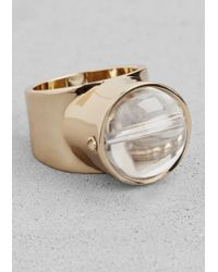 & Other Stories | Metallic Orb Ring | Lyst