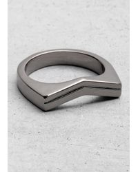 & Other Stories - Metallic V-shaped Ring - Lyst